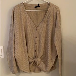Urban Outfitter Thermal Tie front Top